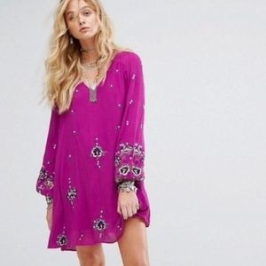 NWT Free People Oxford Embroidered Floral Dress